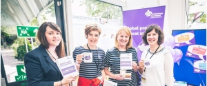 "Our allied health professionals, Rebecca, Alison, Jenny and Christine at last year's conference having a ""tea & blether"" with conference delegates"