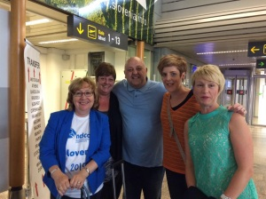Just arrived in Slovenia with colleagues from Scotland